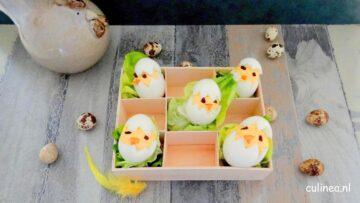 Gevulde eieren voor Pasen