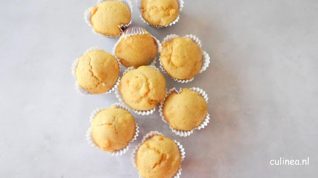 Fruitige muffins met abrikozen