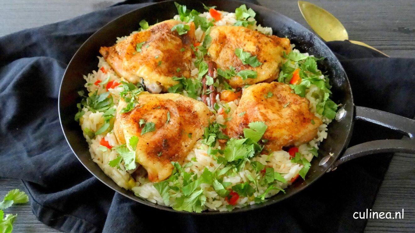 Midden-Oosterse kip met rijst