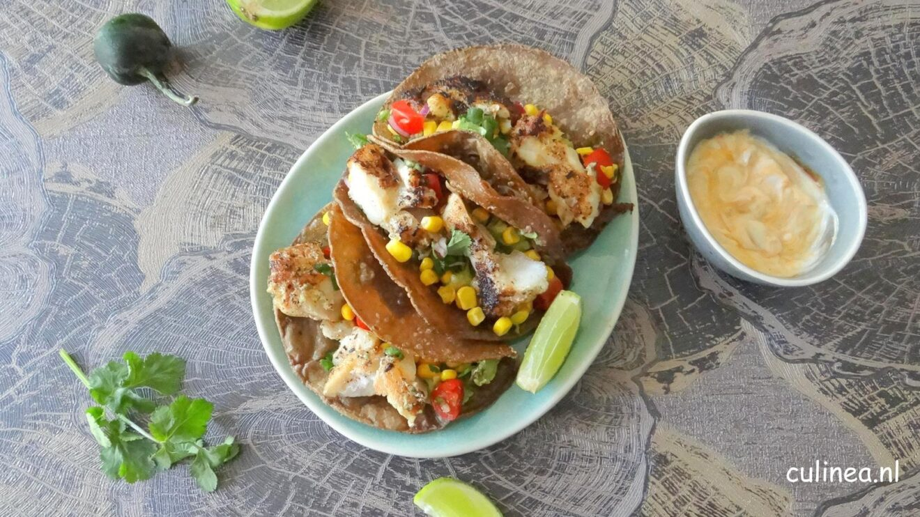 Taco's met vis en guacamole