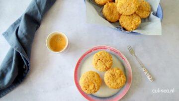 Appelcompote muffins met kaneel