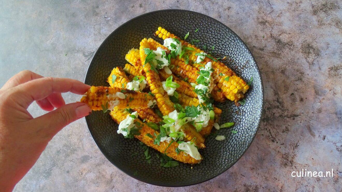 Vegetarische maïs ribbetjes