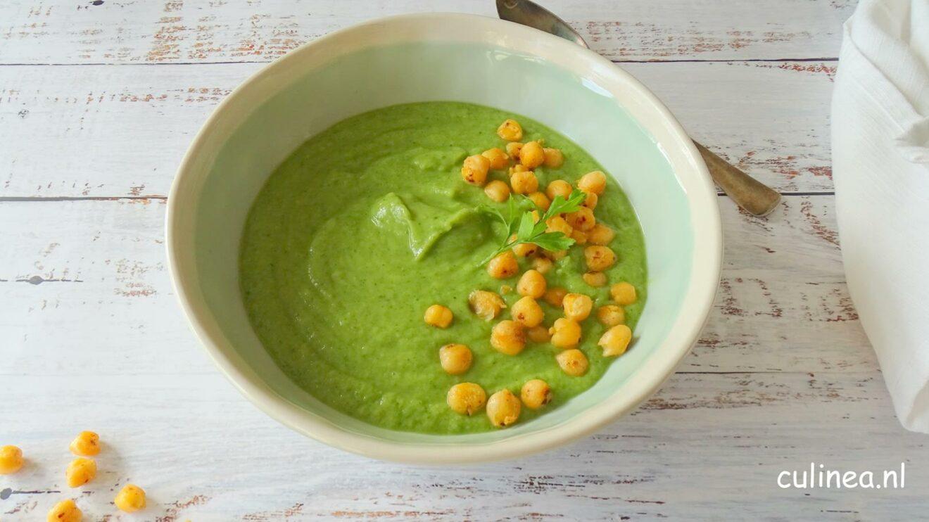 Broccoli en kikkererwtensoep